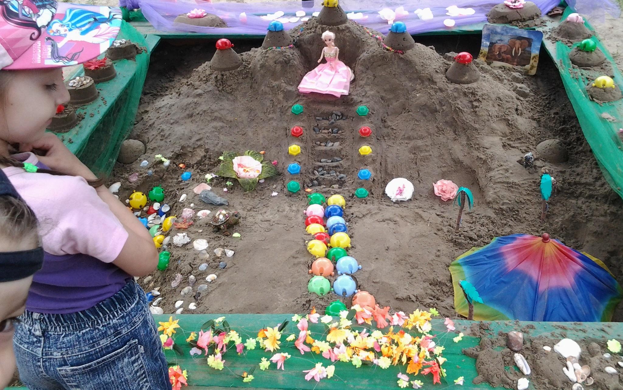 Поделки для детей из песка 79